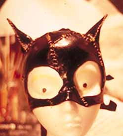 Fashion leather Cat mask, stitched sections for photo shoot