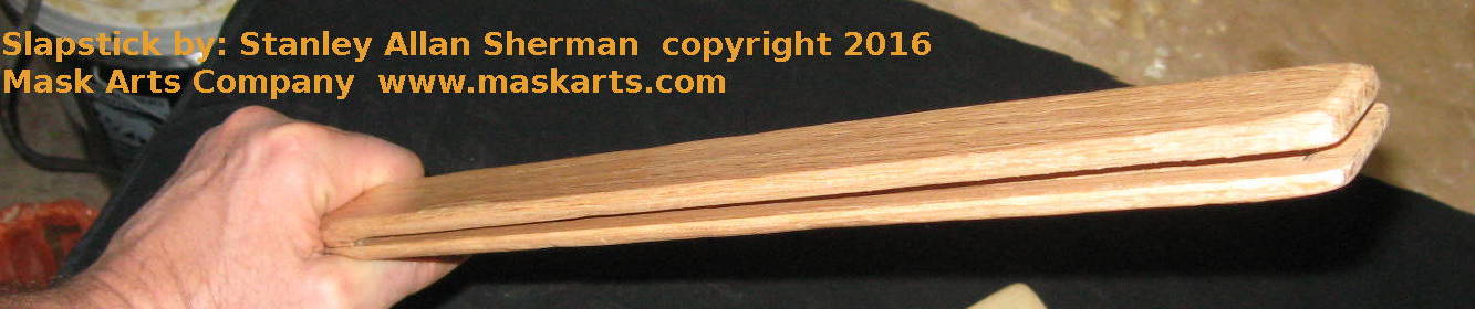 wooden Slapstick for Commedia dell'Arte - made to order
