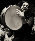 Michela Musolino playing the tambor