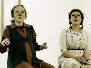 Clown show Under the Skiff with Maja Bieler as Bibi Jennifer Sargent as Manuela