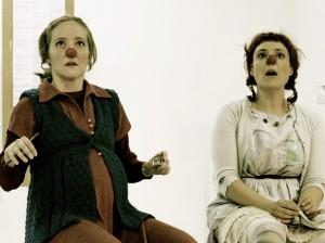 Clown show Under the Skiff with Maja Bieler as Bibi Jennifer Sargent as Manuela