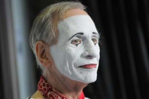 Richmond Shepard in White Mime face