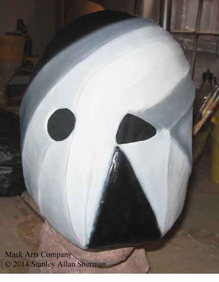 BlackAndWhite Persona finished mask front view